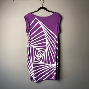 Bcbgmaxazria purple white mini dress tunic large